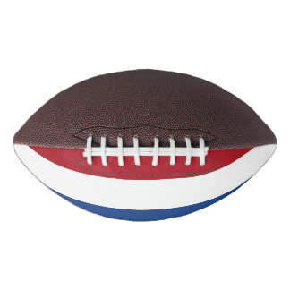 Patriotic american football with flag Netherlands