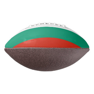 Patriotic american football with flag of Bulgaria