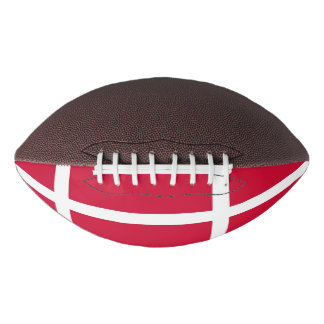Patriotic american football with flag of Denmark