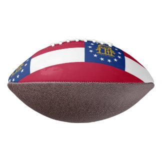 Patriotic american football with Georgia flag