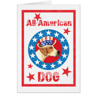 Patriotic American Foxhound Card