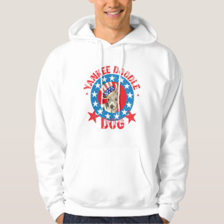 Patriotic American Hairless Terrier Hoodie