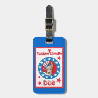 Patriotic American Hairless Terrier Luggage Tag