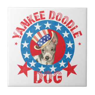 Patriotic American Hairless Terrier Tile