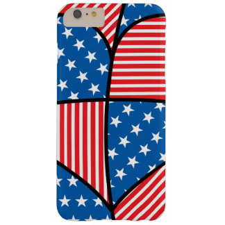 Patriotic American hearts Barely There iPhone 6 Plus Case