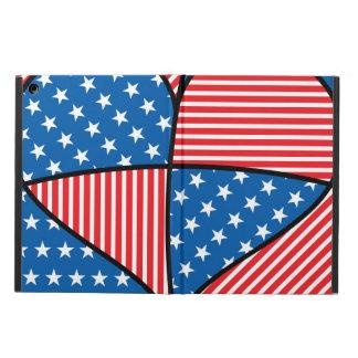 Patriotic American hearts iPad Air Cases