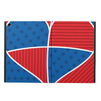 Patriotic American hearts iPad Air Cover