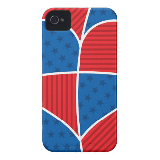 Patriotic American hearts iPhone 4 Case