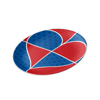 Patriotic American hearts Porcelain Plate