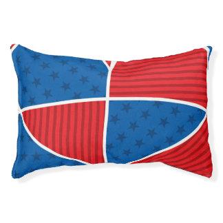 Patriotic American hearts Small Dog Bed