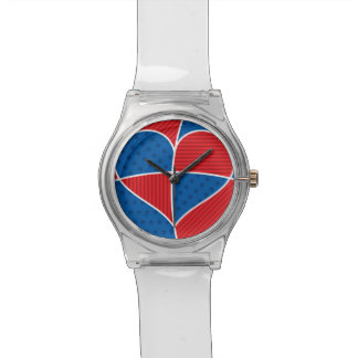 Patriotic American hearts Wristwatches
