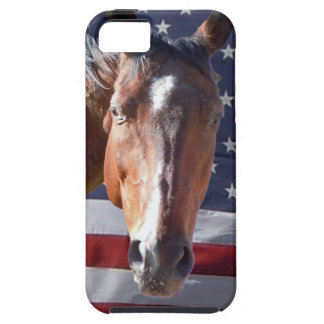Patriotic American Horse Flag iPhone 5 Cases