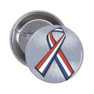 Patriotic American Ribbon 2 Inch Round Button