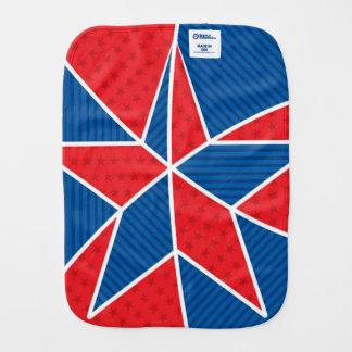 Patriotic American star Baby Burp Cloth