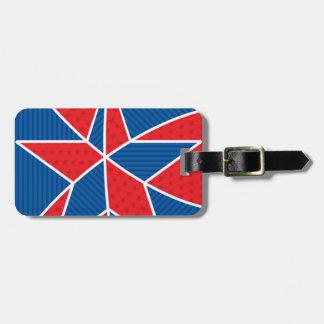 Patriotic American star Bag Tag