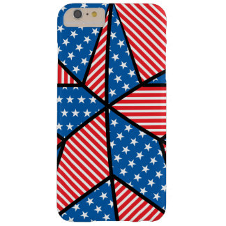 Patriotic American star Barely There iPhone 6 Plus Case