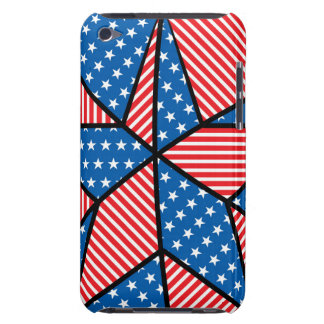 Patriotic American star Barely There iPod Cases