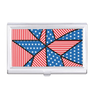 Patriotic American star Business Card Holder