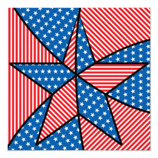 Patriotic American star Card