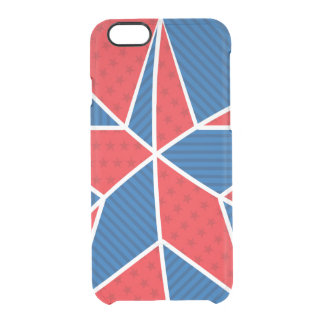 Patriotic American star Clear iPhone 6/6S Case
