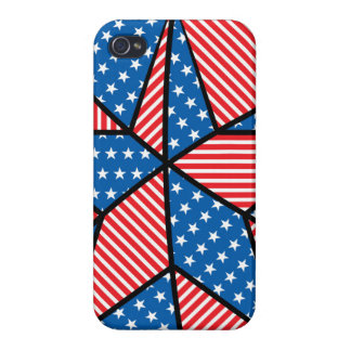 Patriotic American star Cover For iPhone 4