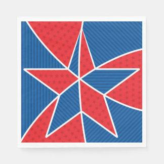 Patriotic American star Disposable Napkin