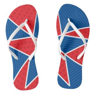 Patriotic American star Flip Flops