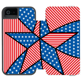 Patriotic American star Incipio Watson™ iPhone 5 Wallet Case