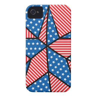 Patriotic American star iPhone 4 Cases
