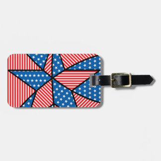 Patriotic American star Luggage Tag