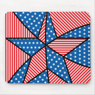 Patriotic American star Mouse Pad