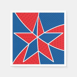 Patriotic American star Paper Napkins