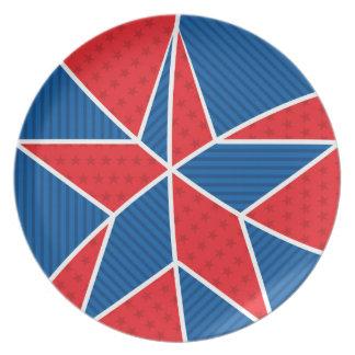 Patriotic American star Plate