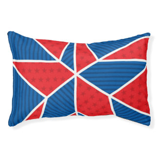 Patriotic American star Small Dog Bed
