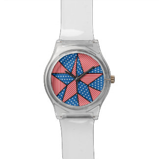 Patriotic American star Wristwatches