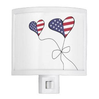 Patriotic American Sweetheart Flag Night Light