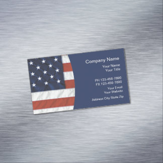 Patriotic American Theme Magnetic Business Card