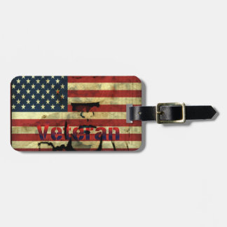 Patriotic American Veteran Luggage Tags
