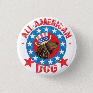 Patriotic American Water Spaniel 1 Inch Round Button