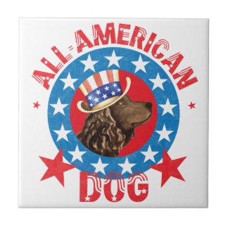 Patriotic American Water Spaniel Tile