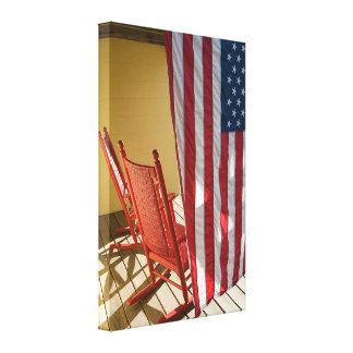 Patriotic Americana Canvas Print