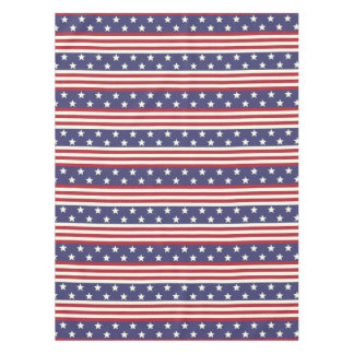 Patriotic Americana USA Flag Stars and Stripes Tablecloth