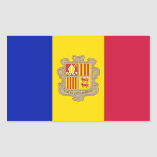 Patriotic Andorra Flag Sticker
