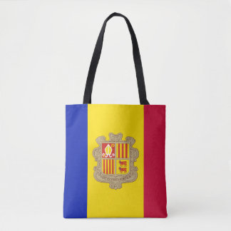 Patriotic Andorra Flag Tote Bag