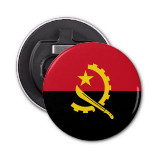 Patriotic Angolan Flag Bottle Opener