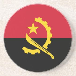 Patriotic Angolan Flag Coaster