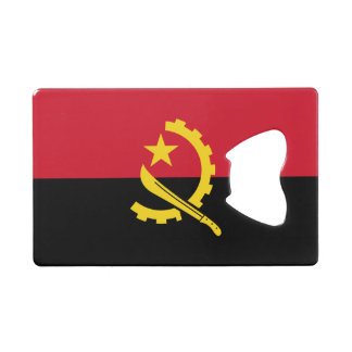 Patriotic Angolan Flag Credit Card Bottle Opener