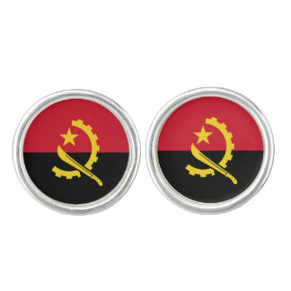 Patriotic Angolan Flag Cufflinks
