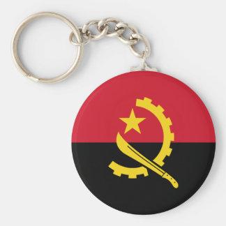 Patriotic Angolan Flag Keychain