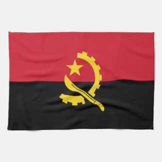 Patriotic Angolan Flag Kitchen Towel